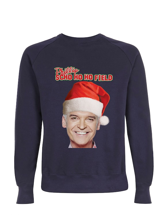 Phillip Schofield KiSS Sweatshirt - Christmas Jumper - Ho Ho Ho - Funny - Eye Catching This Morning - UK TV Iconic - Xmas