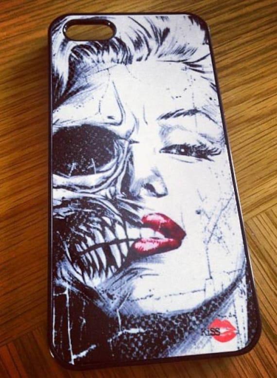 Marilyn Monroe Skull KiSS iPhone Case - stocking filler - Half Face - Present idea