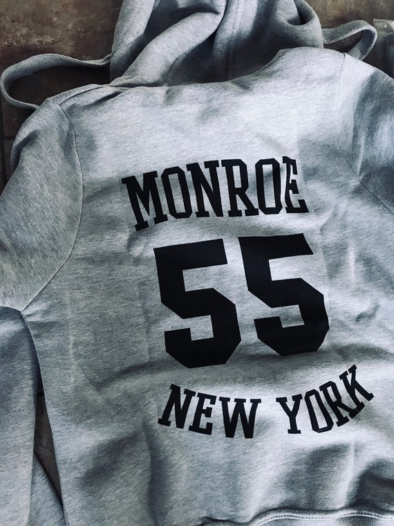 Monroe KiSS Zip Hoodie - 1955 - Marilyn - New York Image - City Iconic Hollywood