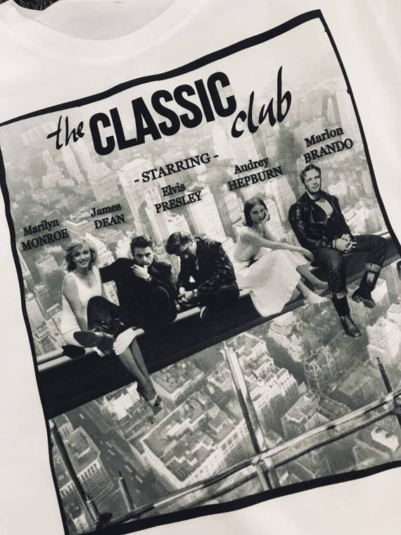 Marilyn Classic Club KiSS T-Shirt - James Dean, Elvis, Marlon Brando, Audrey Hepburn - Breakfast Club inspiration - Christmas Present Movies