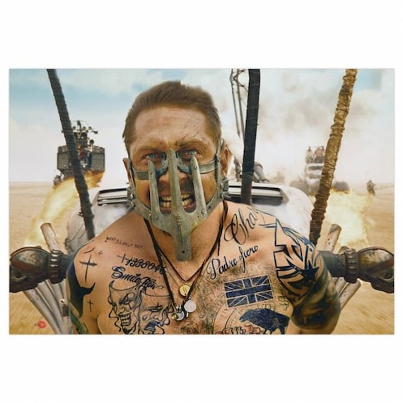 Mad Max KiSS Canvas - Tom Hardy Tattoos - What a Lovely Day - Movie inspired - Gift Idea Wall Art