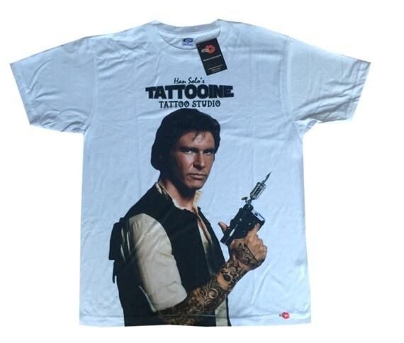 Han Solo KiSS Large Print T-Shirt - Tatooine Tattooist Tattoo - The Force - Star Wars inspired- Harrison Ford - Gift Idea