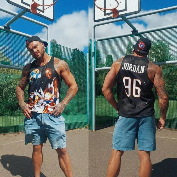 Space Jam 96 KiSS Basketball Vest - Looney Tunes Bugs Bunny Daffy Duck - 90s Michael Jordan - Gift for Him