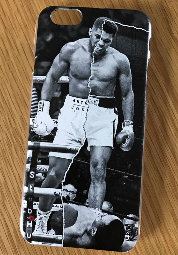 AJ/Ali Boxing KiSS iPhone Case - Anthony Joshua V Muhammad Ali - Half & Half - Boxing Sports Fan - Christmas Present Gift - Stocking Filler