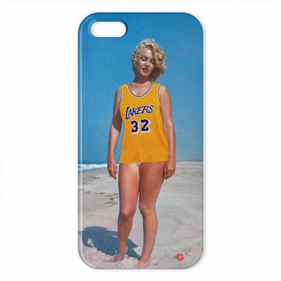 Marilyn Monroe Lakers KiSS iPhone Case - Los Angeles Jersey inspired - Unique Edit - Sports Fan - Gift Idea - Christmas birthday present
