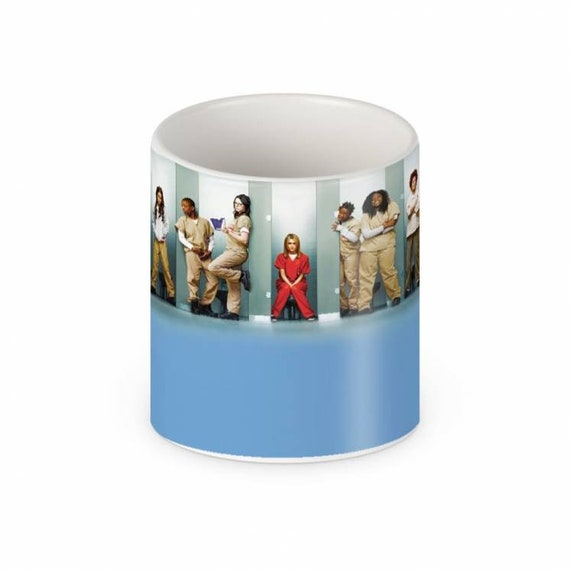 OITNB KiSS Mug - Vauseman, Alex Vause Piper Chapman, Laura Prepon, Taylor Schilling - Gift Idea - Poussey - Orange Is the New Black - Gift