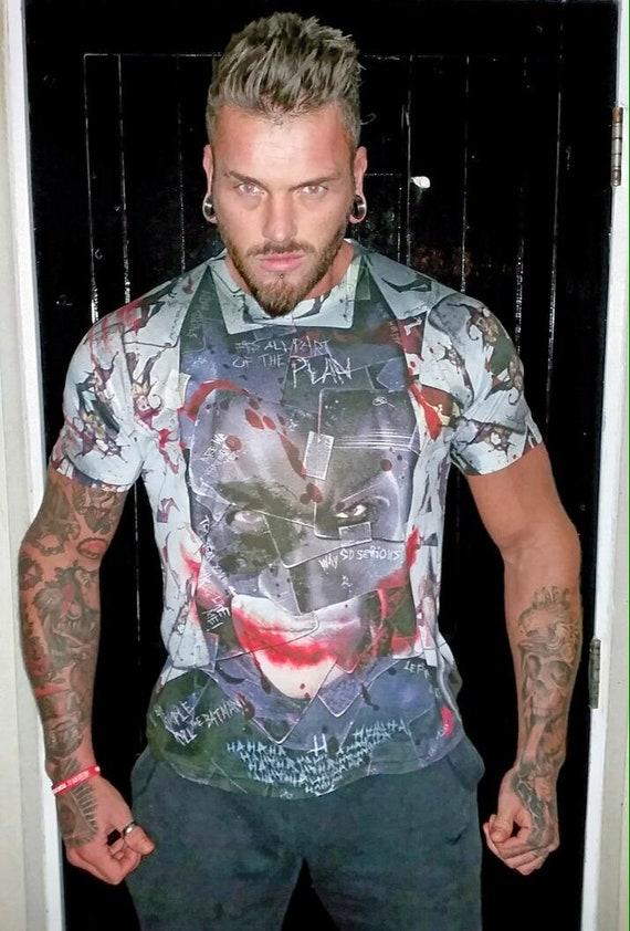 Dark Knight KiSS All Over T-Shirt - Batman Joker Inspired - Movie theme - Heath Ledger - Why so Serious Smile