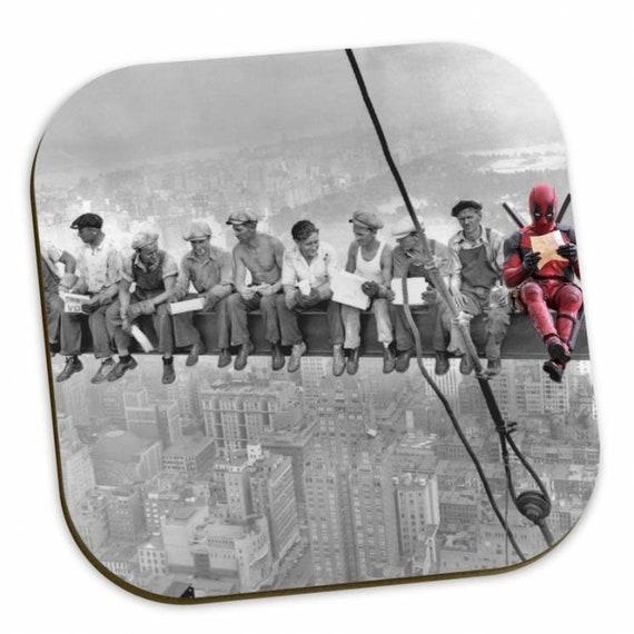 Deadpool Skyscraper KiSS Coasters - Ryan Reynolds Wade Wilson - American superhero - New York Skyscraper Lunch - gift idea