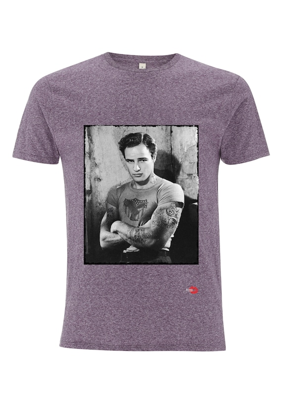 Marlon Brando KiSS T-Shirt - Tattooed - Inked - The Godfather - Hollywood Vintage - Cool Top