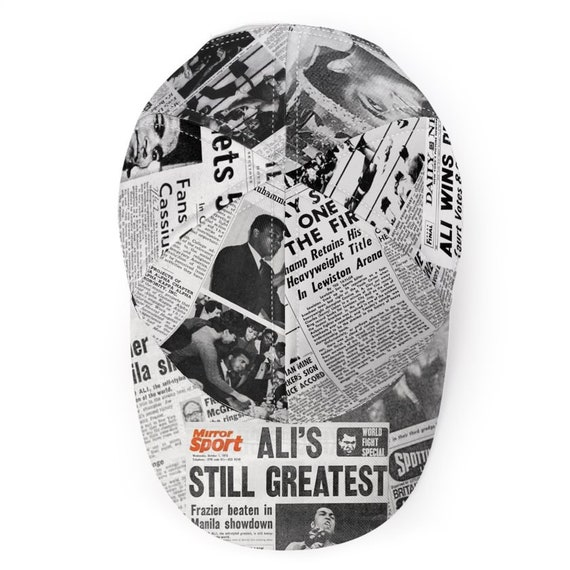 Muhammad Ali KiSS Baseball Cap - Newspaper Headlines - Cassius Clay - Handmade Unique - Gift Idea for him, Boxing Fan, The Greatest