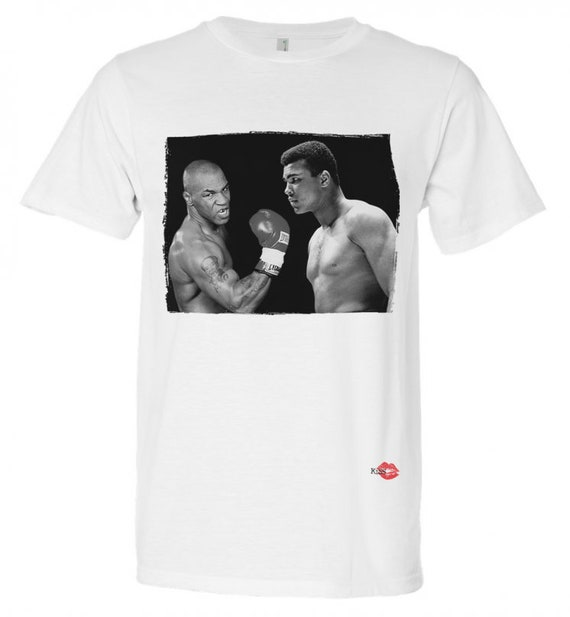 Muhammad Ali Mike Tyson KiSS T-Shirt  - Iconic Boxing - Sports Fans - Gift Idea, Dad, Father, Uncle, Brother Present
