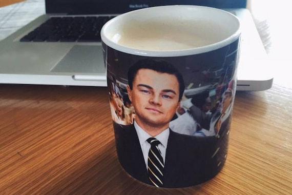 Wall Street KiSS Mug - Jordan Belfort inspired - The Wolf of - Leonardo DiCaprio - Movie - Stocking Filler