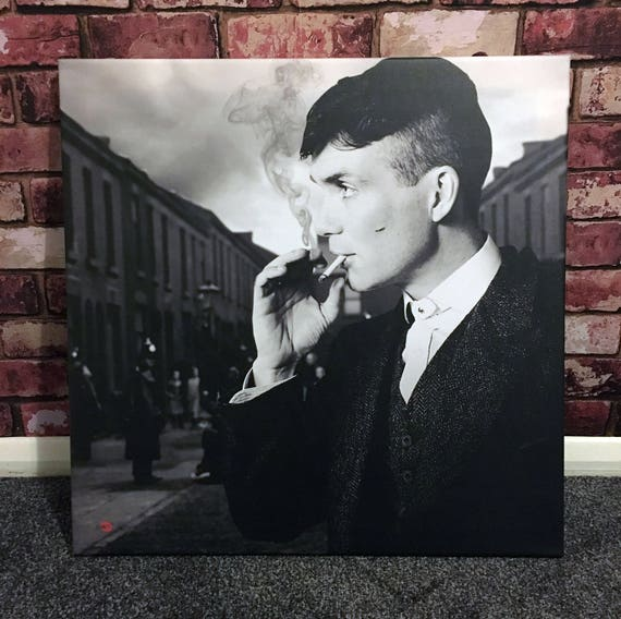 Peaky Blinders Tommy Shelby KiSS Canvas - Cillian Murphy, UK TV Show - Smoking - Stocking Filler - Present/Gift Idea - Gangster - Wall Art