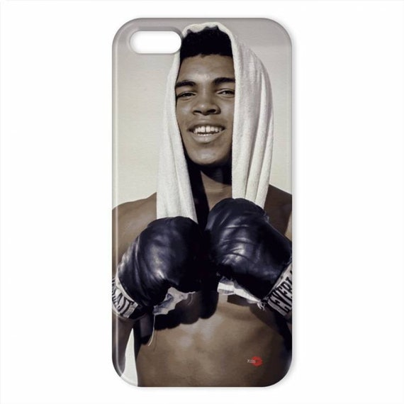 Muhammad Ali Colour KiSS iPhone Case - Smile Casisus Clay Knockout - Sports Fans - Gift Idea, Dad, Father, Uncle, Brother Present