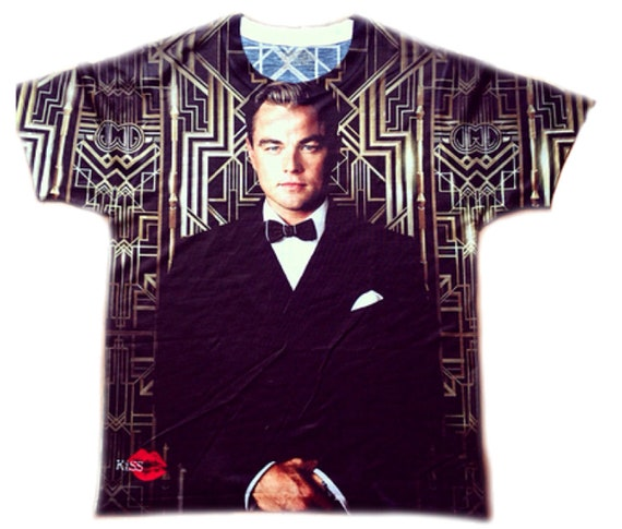 Great Gatsby '25 KiSS All Over T-Shirt - Movie inspired - Leonardo DiCaprio - Art Deco theme - 20s Jay - Old Sport