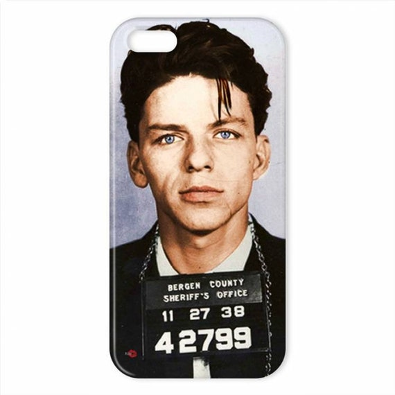 Frank Sinatra Colour KiSS iPhone Case - Mugshot - Mickey Blue Eyes - Rat Pack - Colorised