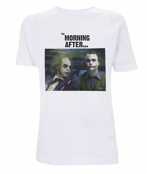 Beetlejuice Joker KiSS T-Shirt - Michael Keaton Heath Ledger - Hangover - Movies inspired funny shirt - The Morning After