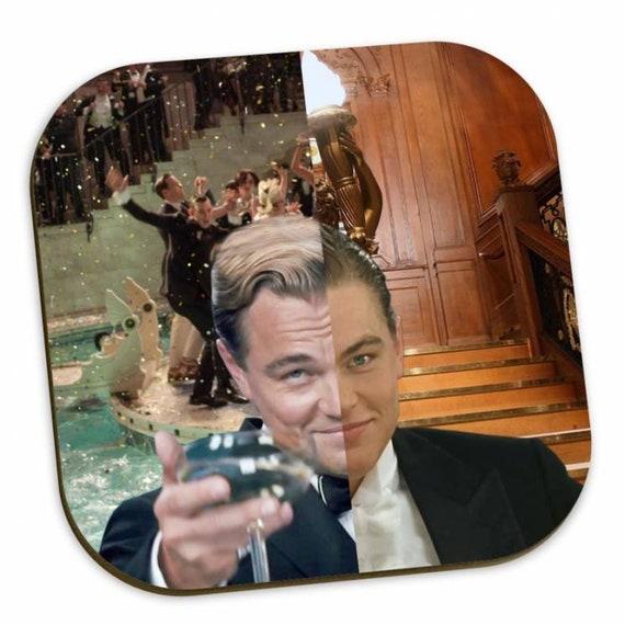 Gatsby/Titanic KiSS Coasters - Jack Dawson Jay Gatsby - Movies - gifts for him & her - christmas birthday