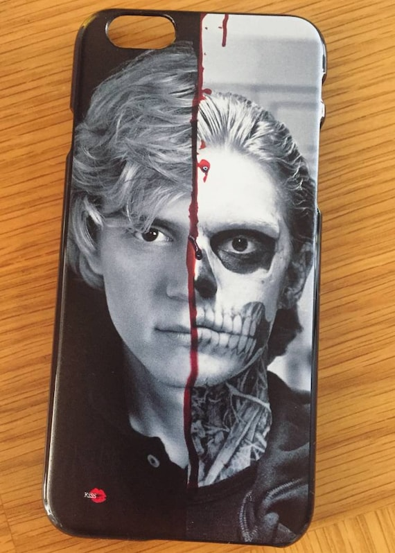 AHS Evan KiSS iPhone Case - American Horror Story inspired - Tate Langdon Peters - Half and Half Skull - Apocalypse Murder - Stocking filler