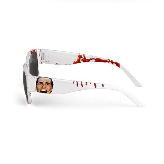 American Psycho KiSS Sunglasses - Christian Bale - Have a Killer day - Handmade Unique - Gift Idea, Christmas Birthday, Halloween Summer