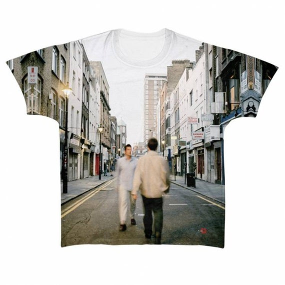Oasis Morning Glory KiSS All Over T-Shirt - Gallagher brothers - Noel and Liam - What's the Story? Gift Idea - indie fan