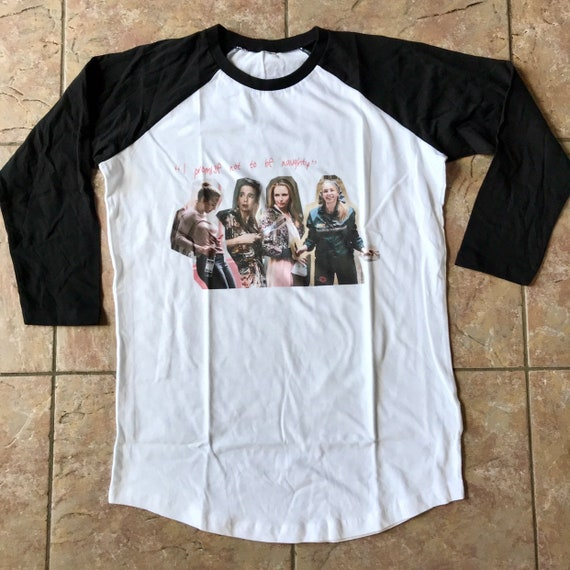 Villanelle x4 KiSS Baseball T-Shirt - Killing Eve Inspired - Jodie Comer Quote Tv Show - British Assassin - Black Comedy Dark Timeline