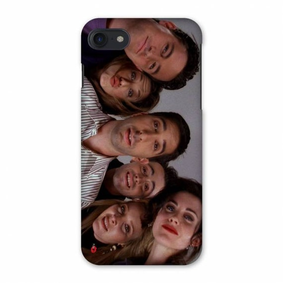 Friends Faces KiSS iPhone Case - TV Show - The One Where - Chandler, Rachel, Ross, Joey, Phoebe & Monica