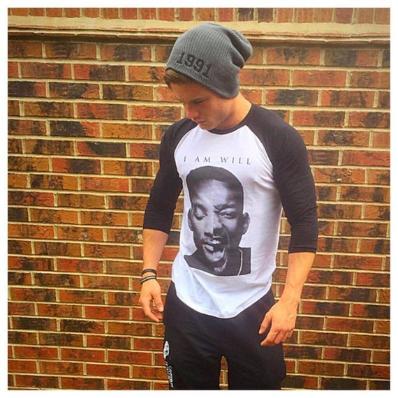 I Am Will KiSS Baseball T-Shirt - Will Smith - William - Fresh Prince Bad Boys Men In Black - Actor inspired - Cool Guy
