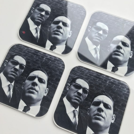 Tom Hardy The Krays KiSS Coasters - Kray Twins, Legend, Gangsters selfie - home decor - unusual present idea - living dining room - unique