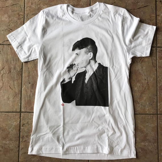 Peaky Blinders Inspired Tommy KiSS T-Shirt -Tommy Shelby  - Unique Smoking Cillian Murphy, UK TV Show Stocking - Present/Gift Valentine