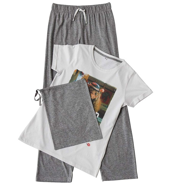 ET Extra Terrestrial Women's KiSS Set - Gift - Choose Shorts /Trousers - Beyonce Flawless - 80s Movie - Woke Up Like This - Funny