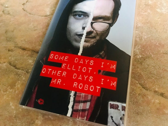 Mr Robot KiSS iPhone Case - Rami Malek - Christian Slater F Society Inspired - Coding IT Computers - E Corp - TV - Some Days - Present Gift