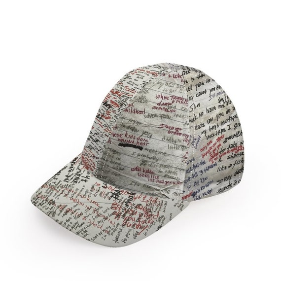 Eminem Lyrics Inspired KiSS Baseball Cap - Newspaper Notebook - Lose Yourself - Handmade Unique - Gift Idea, Marshall Rap