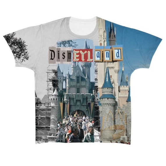 Magic Kingdom Then & Now KiSS All Over T-Shirt - Disney Inspired - Mickey and Minnie Mouse - Castle