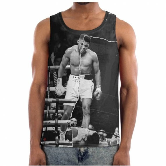 Muhammad Ali/Anthony Joshua baiser Basketball gilet & - half & gilet half - Ko de la boxe - cadeau idée cadeau pour lui - Sports c44d66