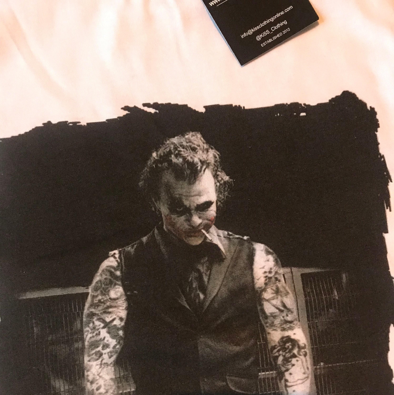 7226f2bd The Joker Tattooed KiSS T-Shirt - Heath Ledger - Inked Tattooist Tattoo  Edit - Dark Knight Why so Serious? - Christmas Present - Movie Buff