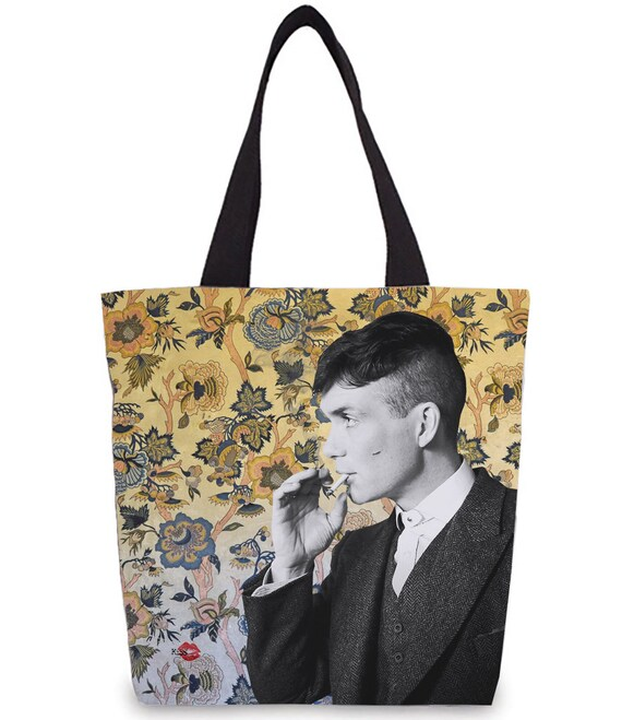 Tommy Shelby KiSS Tote Bag - Cillian Murphy, TV Show Inspired - 30s 20s Wallpaper - Shopper - Present/Gift Idea - Gangster - Peaky Blinders