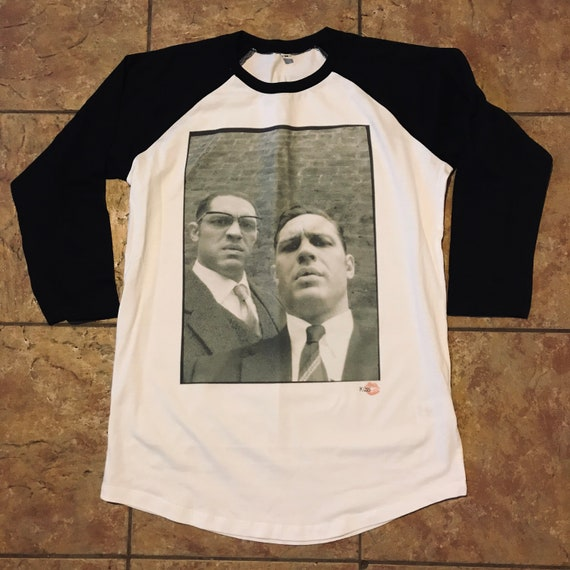 Tom Hardy/Krays KiSS Baseball T-Shirt - Kray Twins Legend Movie - UK Crime Gangster - Christmas present idea