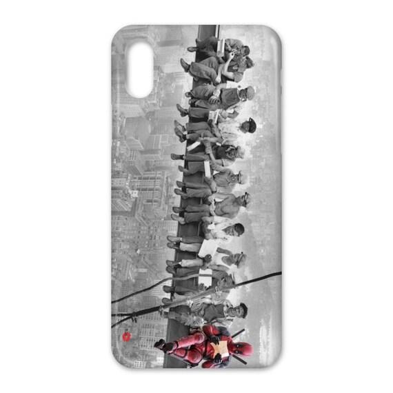 Deadpool Skyscraper KiSS iPhone Case - Ryan Reynolds - superheroes american Wade Wilson - Comic Funny - Christmas or Birthday present idea