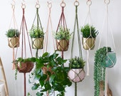 Macrame Plant Hanger, Customizable Plant Hanger, Hanging Planter, Custom Size and Color Options