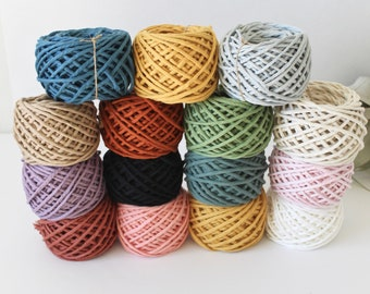 Macrame Cotton Cord, Colored Macrame String, 4mm Single Strand Cotton, Choose Your Color, Macrame Cord, 50 ft or 100 ft Mini Spools