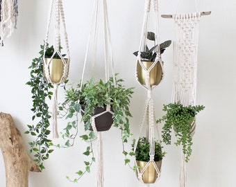 Hanging Planters, Choice of 4 Macrame Plant Hangers, Indoor Hanging Planter, Gift for Plant Lover. Gift For Her