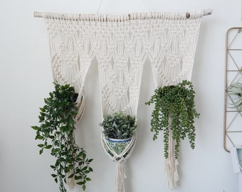 Large Hanging Planter, Wall Planter Indoor, Plant Stand, Macrame Plant Holder