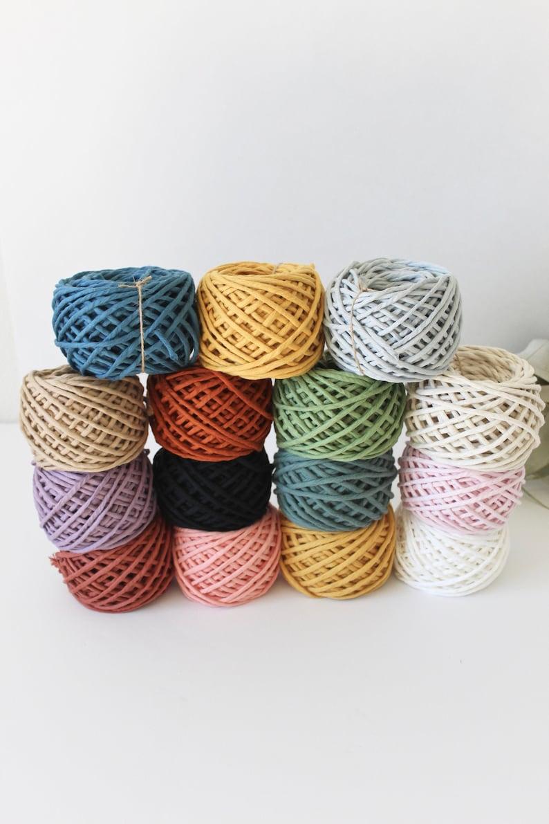 Macrame Cotton Cord Colored Macrame String 4mm Single Strand image 1