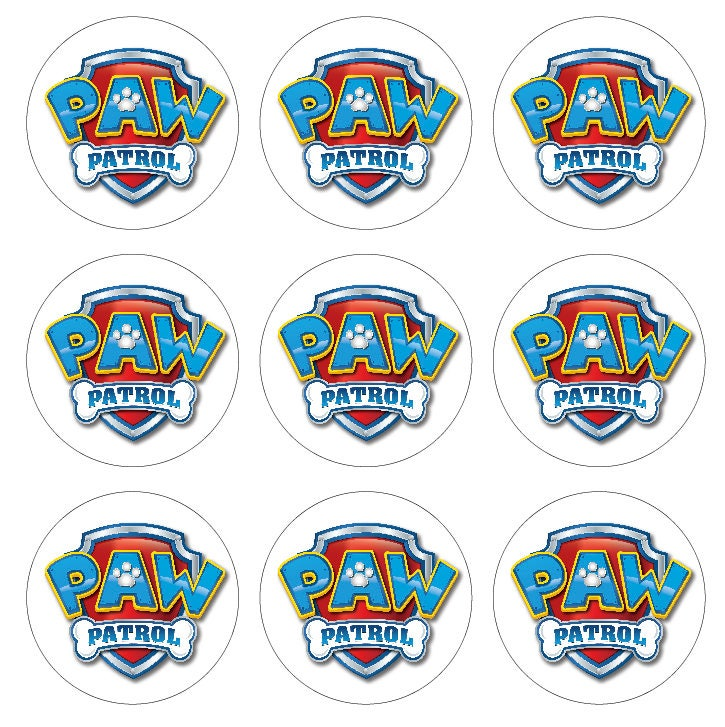 paw patrol logo aufkleber wandtattoos geburtstagsfeier etsy. Black Bedroom Furniture Sets. Home Design Ideas
