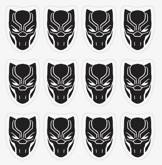 Black Panther Logo Avengers Infinity War Black Panther Sticker Decal Wall Decal Birthday Party Wallpaper Nursery Waterbottle Comics