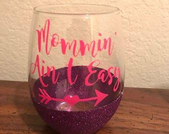 Glitter wine glass