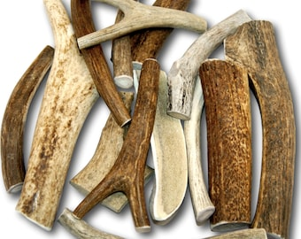 Premium Large Antler - TWO POUNDS (+/- an ounce or two) Variety Pack - Top Dog Chews