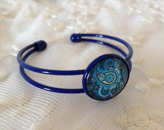 Cashmere blue cameo bracelet.