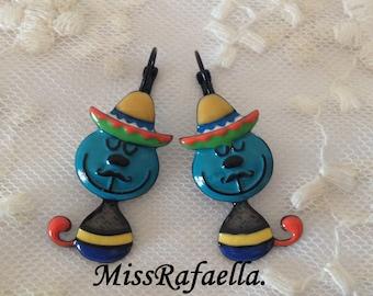 Earrings Mexico Lindo.
